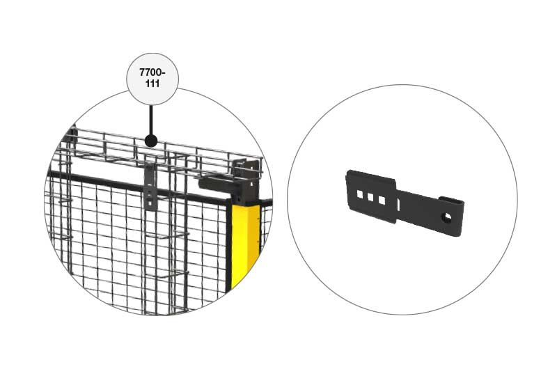 Vertical Bracket 7700 111 For X Tray For X Guard)